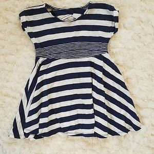 12-18 month old navy striped dress